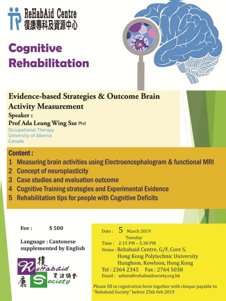 Seminar :  Cognitive Rehabilitation